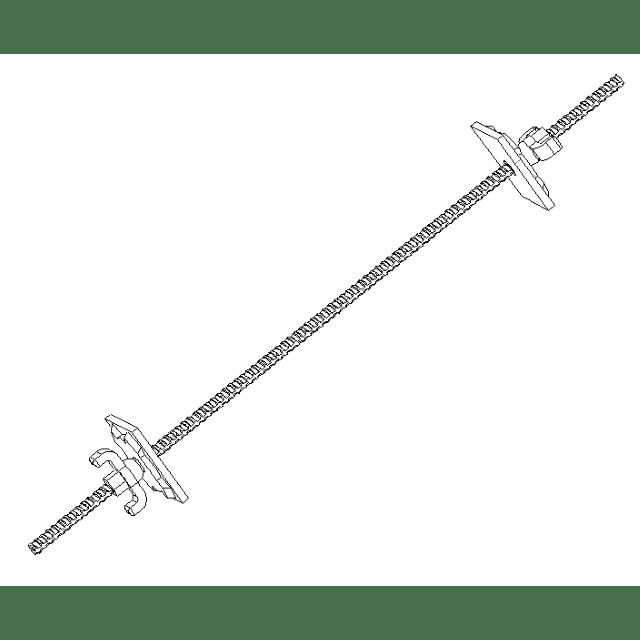 Ensemble de tige Ø17 longueur 1000, avec écrou plaque-flottante