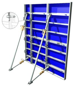 Image 3D de coffrage Aluminium Cosmos serrage