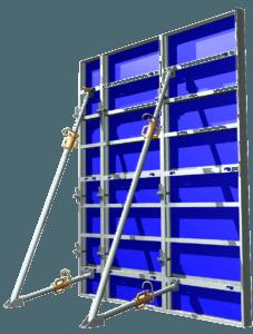 Image 3D de coffrage Aluminium Cosmos et stabilisateur au vent