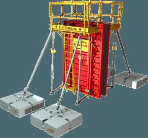 Étape 9 de la notice de montage pour la banche modulaire 8-10-12T/m² COSMOS