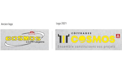 Coffrages COSMOS : Coup de neuf sur notre logo